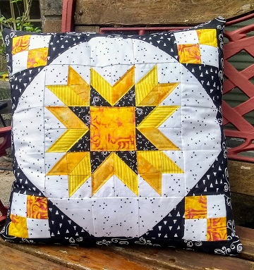Fractured Star Pillow by Sharon @ Ms P Designs USA