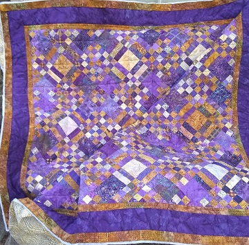Purple and Butterscotch Quilt by Sharon @ Ms P Designs USA