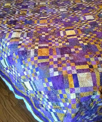 Purple & Butterscotch Quilt by Sharon @ Ms P Designs USA
