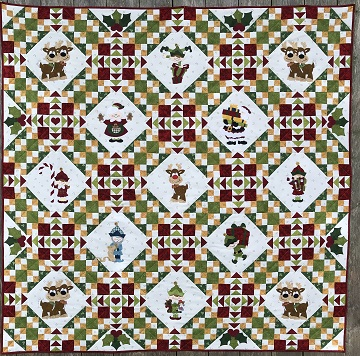 Christmas Cheer Quilt by Ms P Designs USA