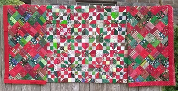 Scrappy Christmas Quilts by Sharon @ Ms P Designs USA