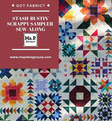 This image has an empty alt attribute; its file name is stash-bustin-scrappy-sampler-sew-along-logo.jpg