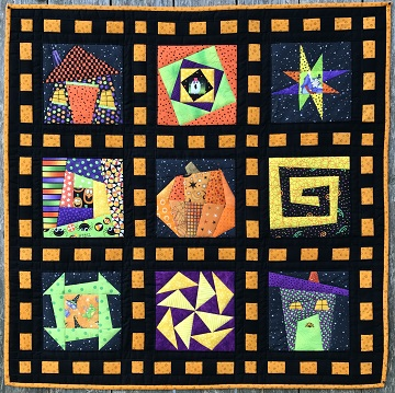 Wonky Halloween Sampler by Ms P Designs USA
