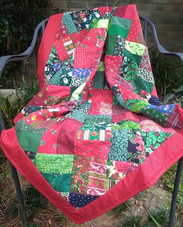 Christmas Quilt 1 by Sharon @ Ms P Designs USA