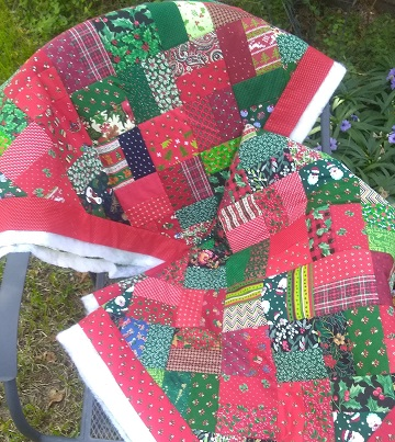 Christmas Scrap Quilts WIP by Sharon @ Ms P Designs USA