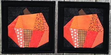 Halloween Pumpkin Hot Pads by Ms P Designs USA