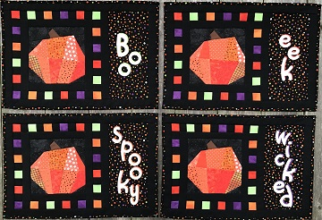 Halloween Pumpkin Place Mats by Ms P Designs USA
