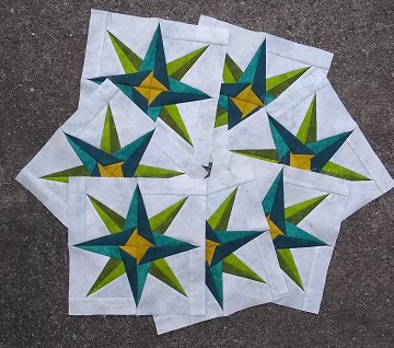 Mariner's Star Quilt Blocks by Sharon @ Ms P Designs USA