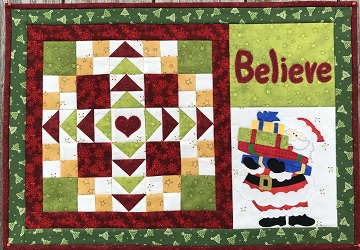 Believe Christmas Place Mat by Ms P Designs USA