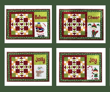 Christmas Place Mat Set by Ms P Designs USA