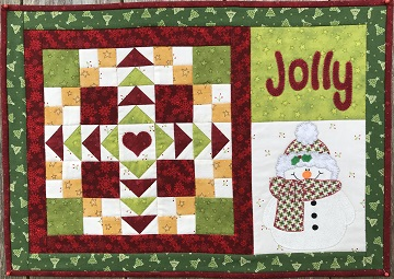 Jolly Christmas Place Mat by Ms P Designs USA
