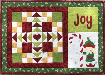 Joy Christmas Place Mat by Ms P Designs USA