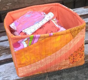 Orange Scrappy Box by Sharon @ Ms P Designs USA