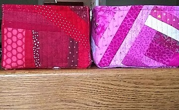 Red and Pink Scrappy Boxes by Sharon @ Ms P Designs USA