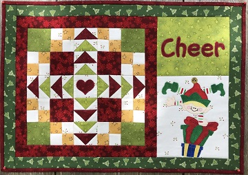 Cheer Christmas Place Mat by Ms P Designs USA