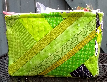 Lime Green Scrappy Box D by Sharon @ Ms P Designs USA