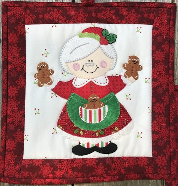 Mrs. Claus Hot Pad by Ms P Designs USA