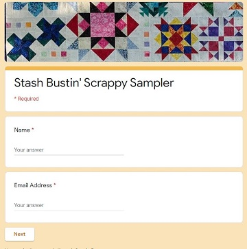 Scrappy Sampler Reward Form A by