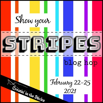 Stripes blog hop button at Creatin in the Sticks