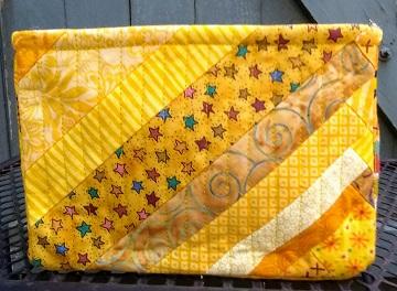 Yellow Scrappy Box C by Sharon @ Ms P Designs USA
