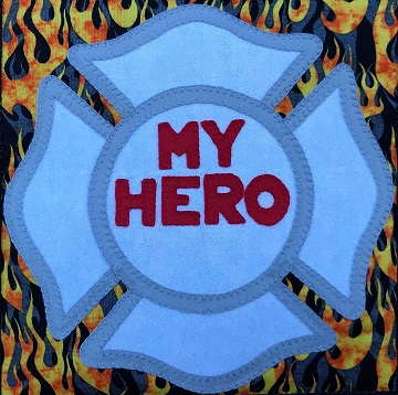 Firefighter Badge by Ms P Designs USA