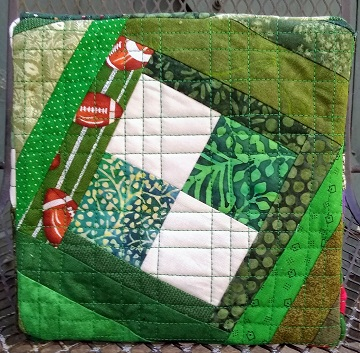Green Scrappy Basket Bottom by Sharon @ Ms P Designs USA