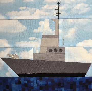 Military Ship by Ms P Designs USA