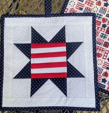 Patriotic Star Hot Pads B by Ms P Designs USA