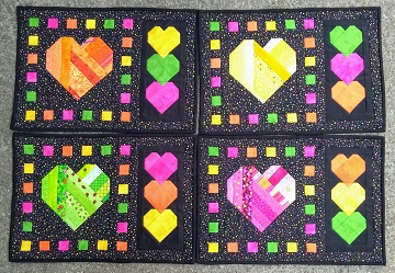 Scrappy Hearts Place Mats by Ms P Designs USA