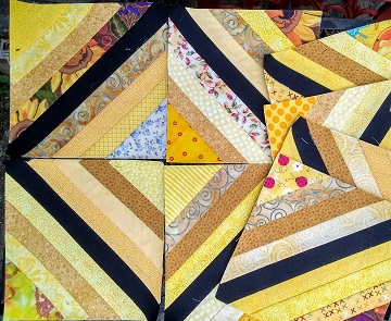 February string blocks by Sharon @ Ms P Designs USA