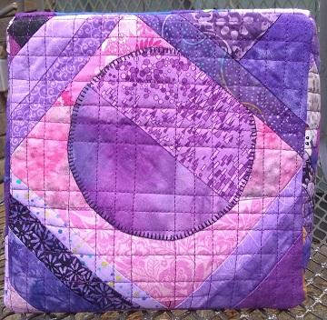 Purple Scrappy Basket Bottom by Sharon @ Ms P Designs USA