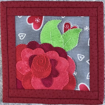 Sweetheart Rose Coaster by Ms P Desgins USA