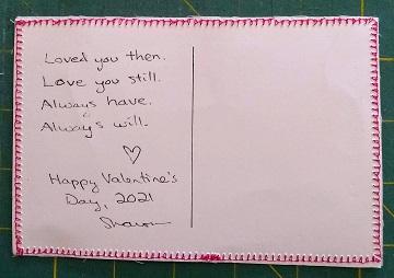 Valentine's Day Postcard by Sharon @ Ms P Designs USA