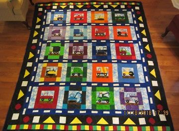 Vehicle quilt by Carolyn F