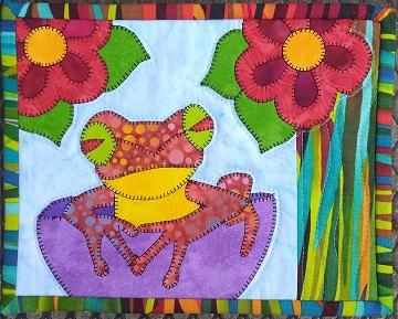 Poison Dart Frog Mug Rug by Ms P Designs USA
