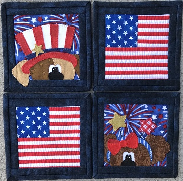 Independence Day Coaster Set by Ms P Designs USA