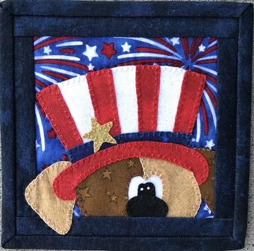 Patriotic Puppy A by Ms P Designs USA