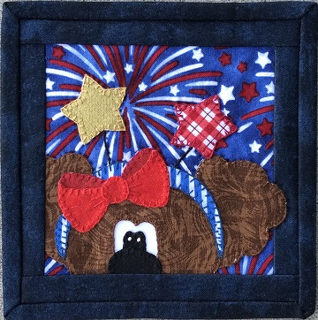Patriotic Puppy B by Ms P Designs USA