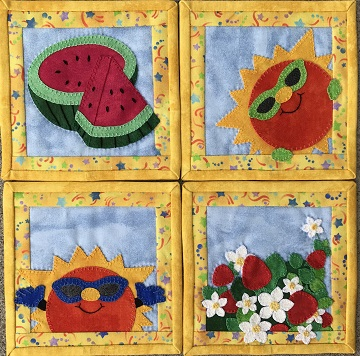 Summer Coaster Set by Ms P Designs USA