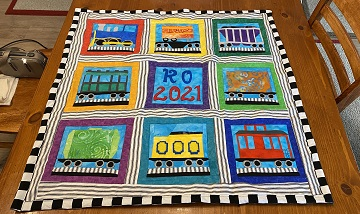 Train Quilt by Stephanie S