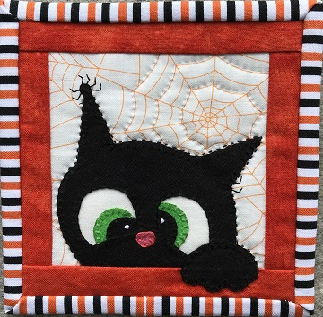 Halloween Cat 1 Coaster by Ms P Designs USA