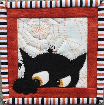 Halloween Cat 2 Coaster by Ms P Designs USA