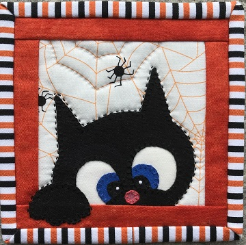 Halloween Cat 3 Coaster by Ms P Designs USA