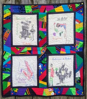 Ian's Quilt 1992 by Sharon @ Ms P Designs USA