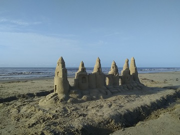 Sand Castle on Pirates' Beach by Sharon @ Ms P Designs USA