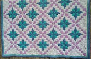 Purple, Teal, Gray Quilt by Sharon @ Ms P Designs USA
