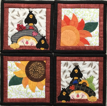 Autumn Coasters by Ms P Designs USA