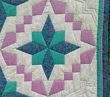 Purple, Teal, Gray Detail by Sharon @ Ms P Designs USA