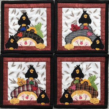 Scarecrow Coasters by Ms P Designs USA