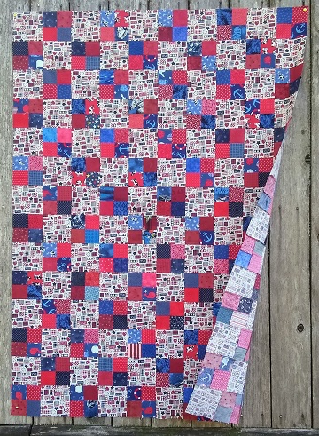 Patriotic Double 4 Patch by Sharon @ Ms P Designs USA